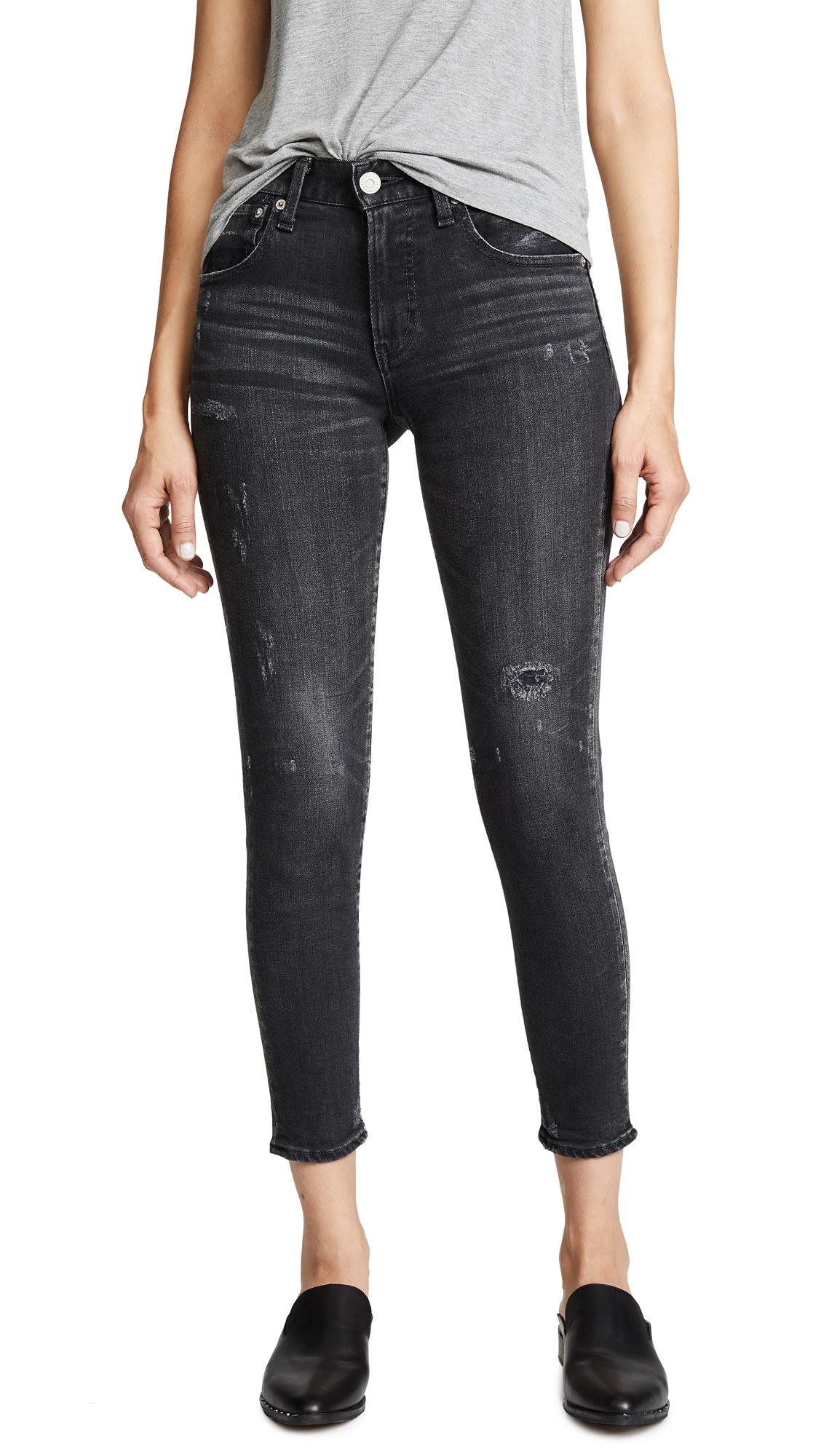 MOUSSY VINTAGE Velma Comfort Skinny Jeans In Black