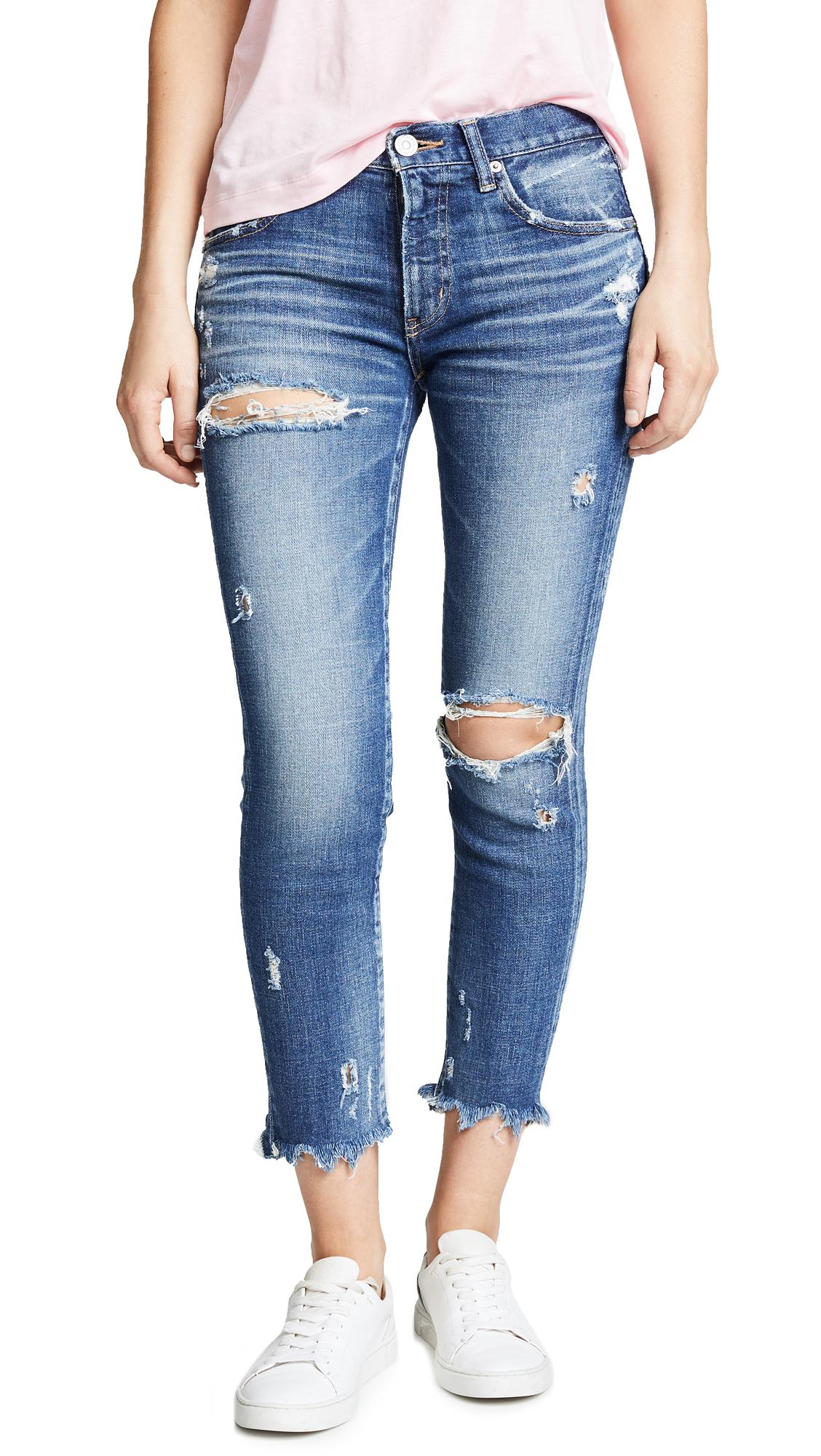 MOUSSY VINTAGE Ridgewood Comfort Skinny Jeans In Blue