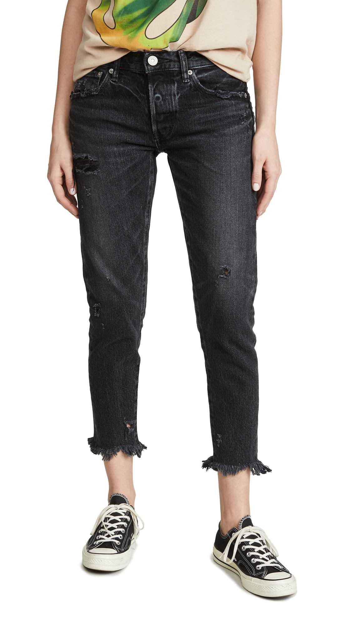 MOUSSY VINTAGE MV Kelley Tapered Jeans - Black
