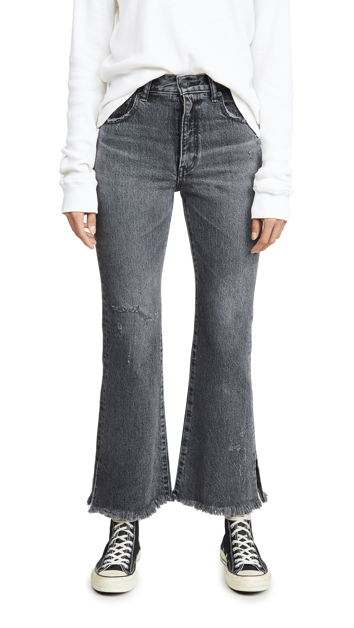 Buy MOUSSY VINTAGE online - photo of MOUSSY VINTAGE Hershey Flare Jeans