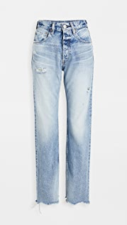 MOUSSY VINTAGE MV Lomita Wide Straight Jeans