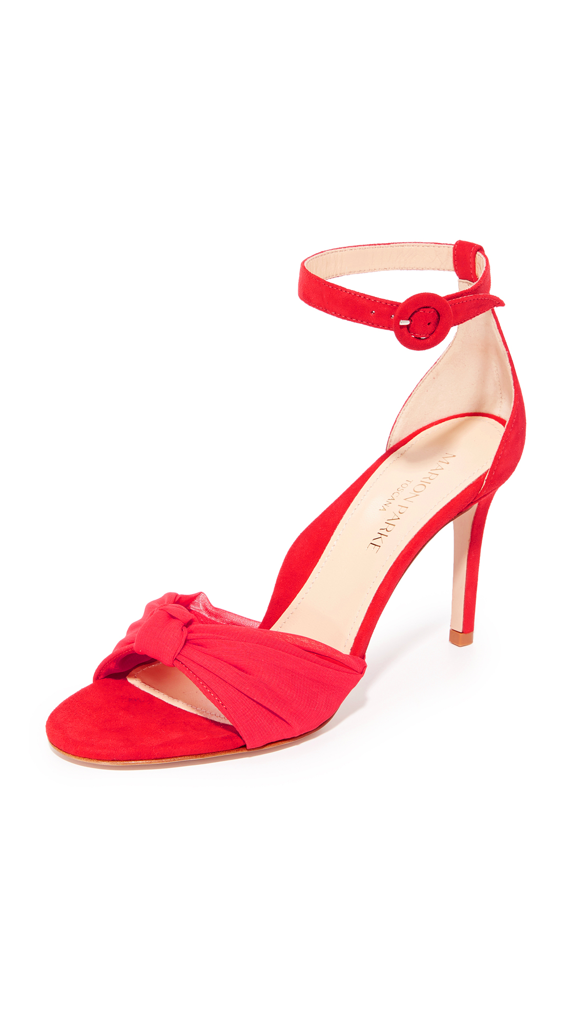 marion parke female marion parke lane wrap sandals red lip