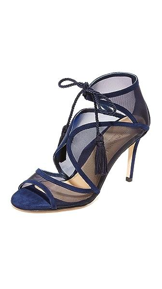 Marion Parke Lita Tie Sandals - Navy