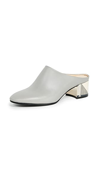 Marion Parke Gibson Mules In Slate