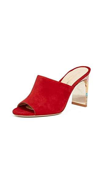 Marion Parke Louisa Mules In Classic Red