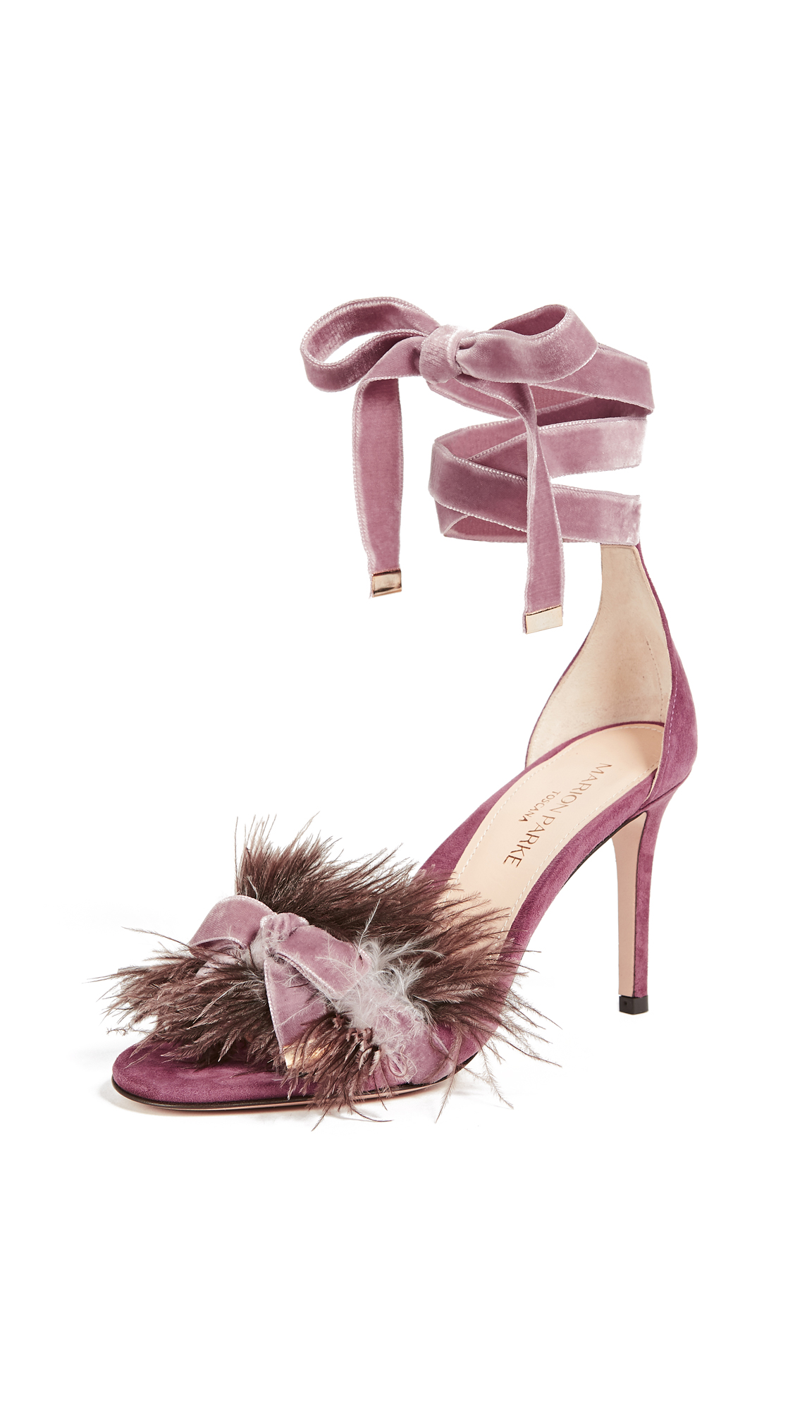 Marion Parke Lainey Feather Sandals - China Rose