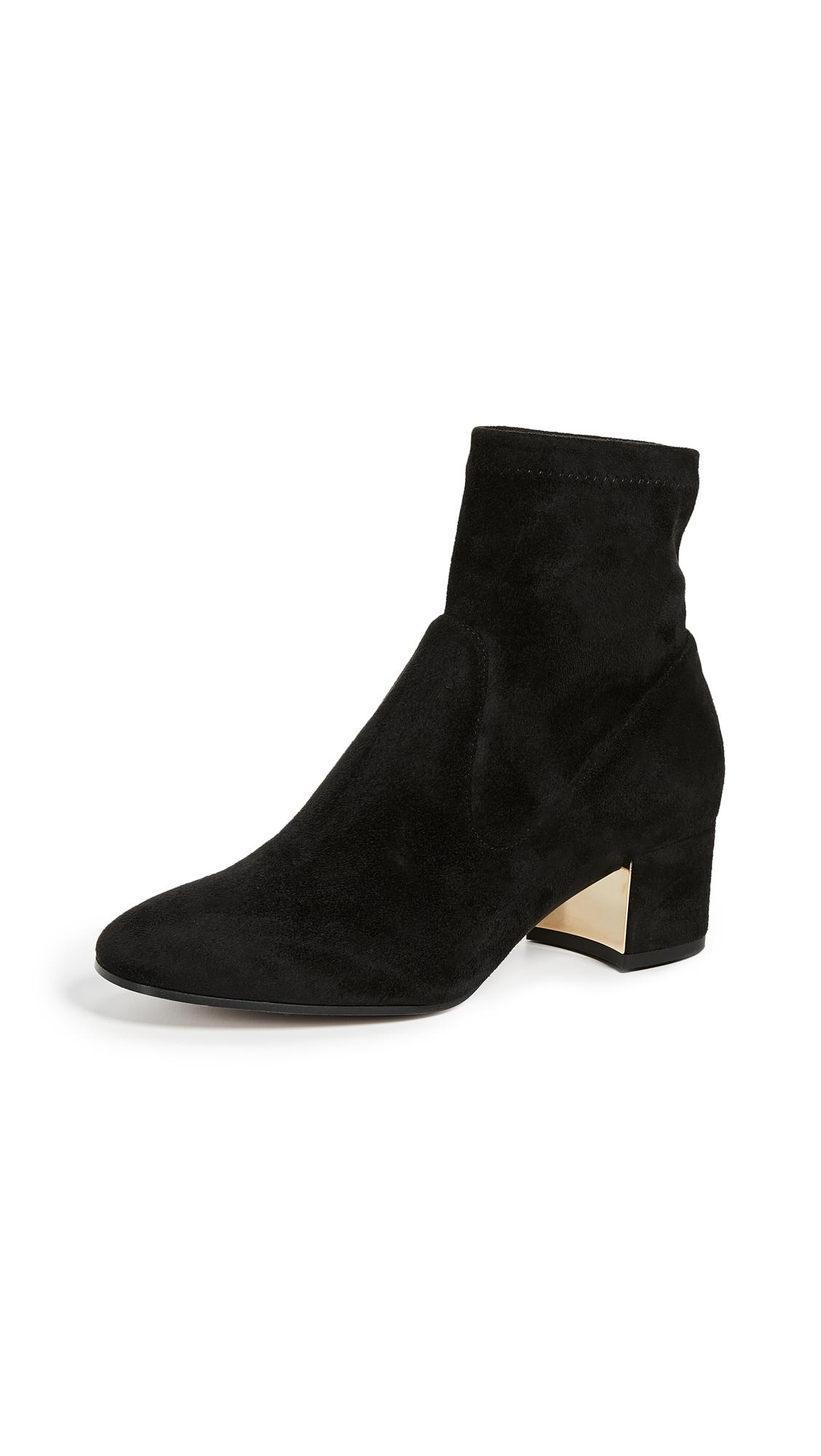 Marion Parke Grace Block Heel Ankle Boots - Black