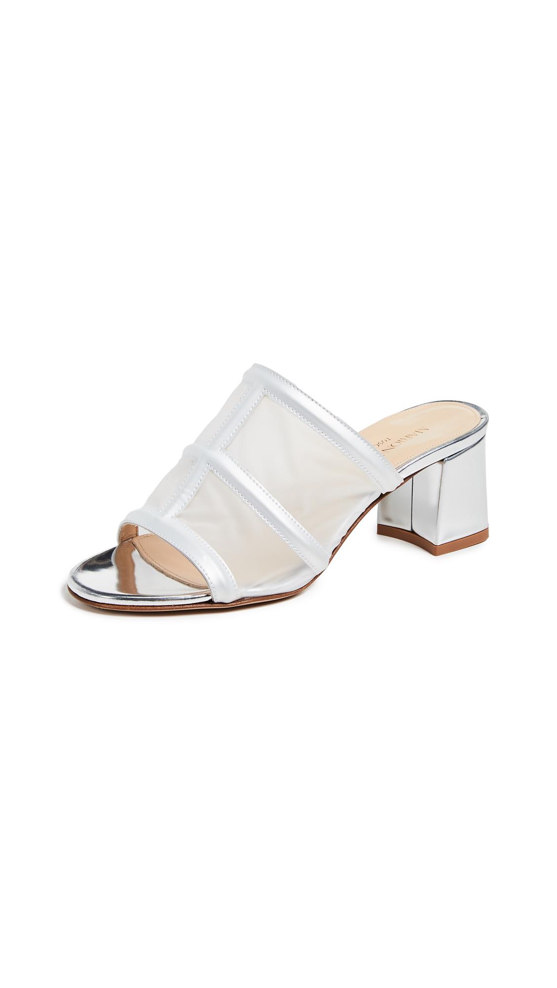 Marion Parke Bea Slides - Silver Mirror