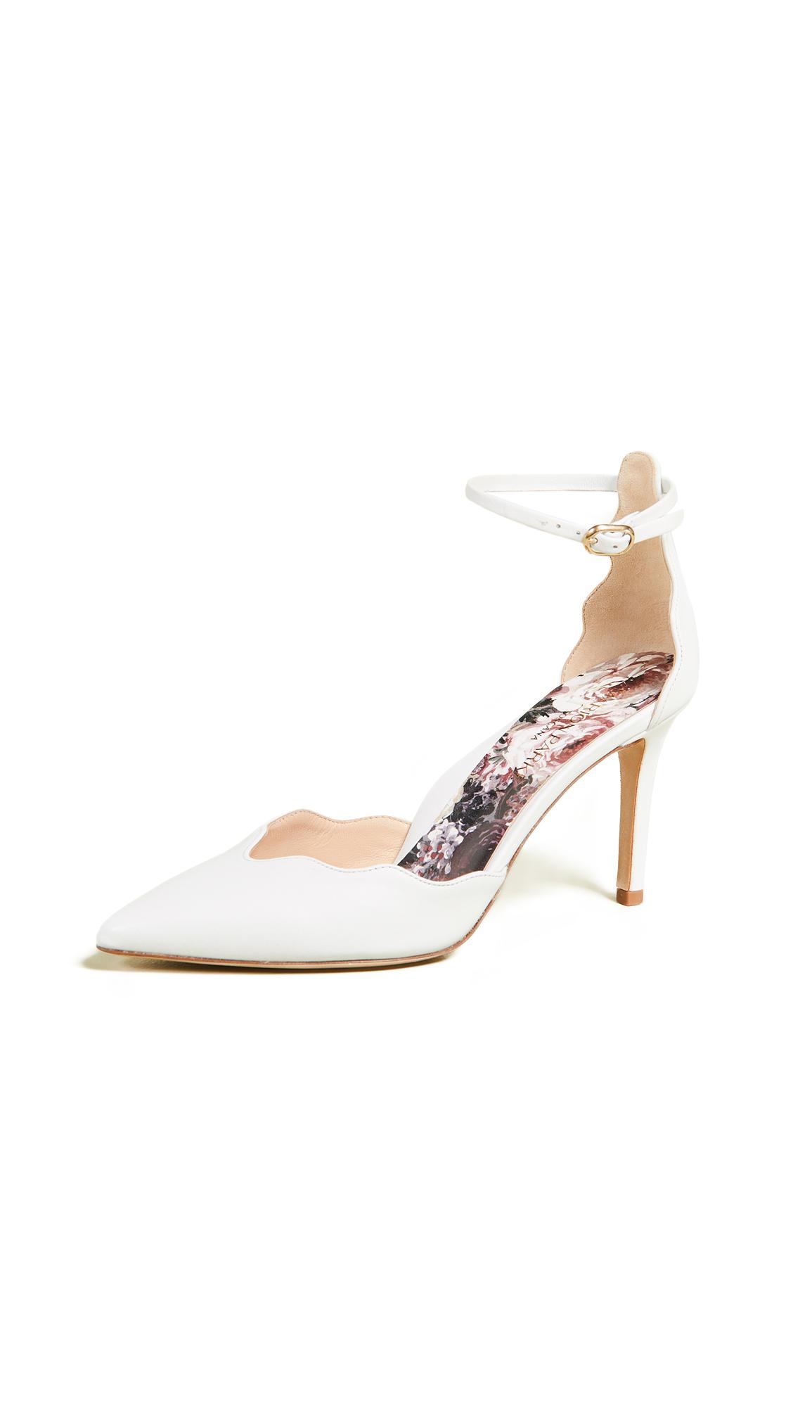 Marion Parke Mara Ankle Strap Pumps - White