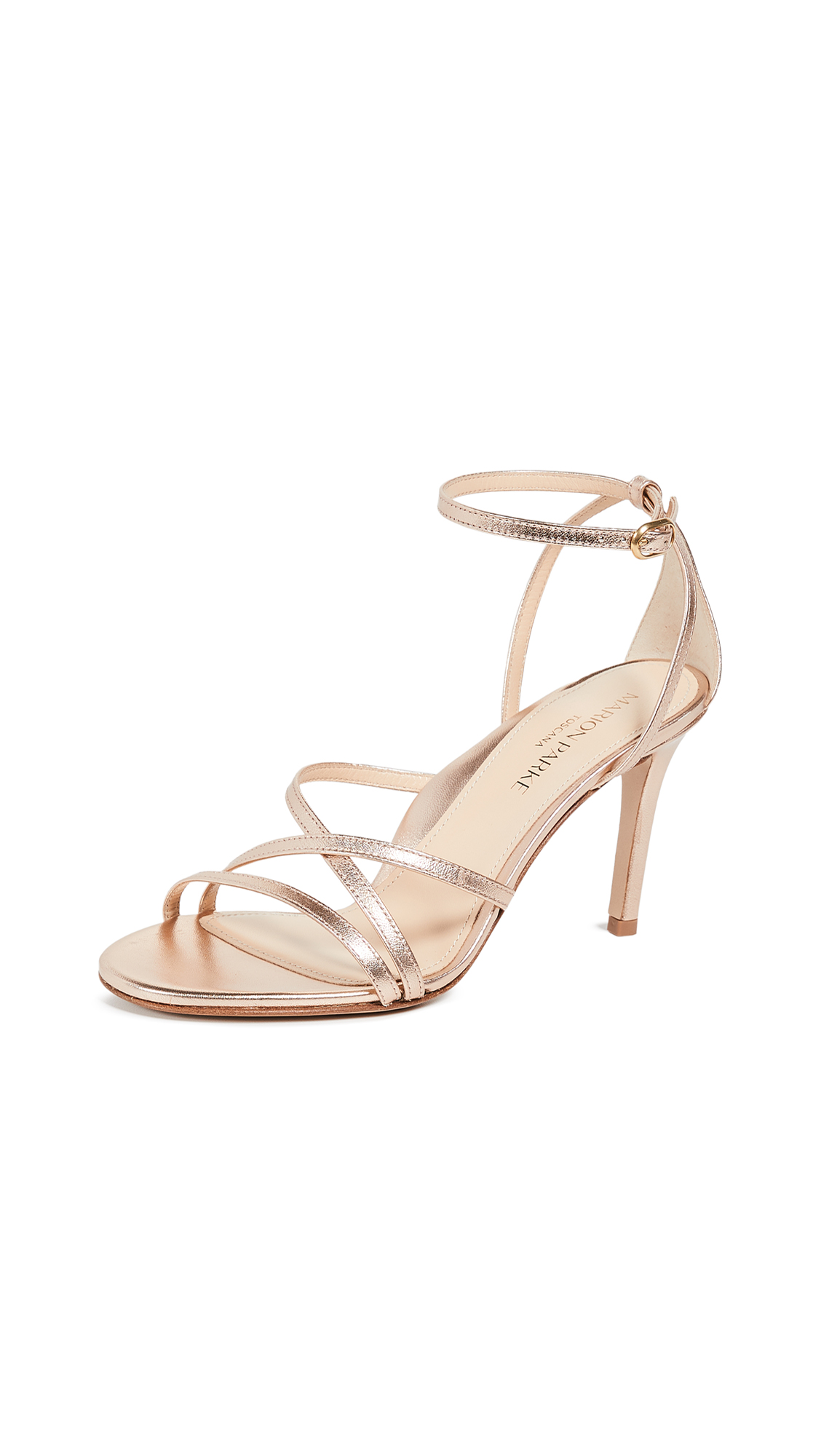 Marion Parke Lillian Strappy Sandals - Rose Gold