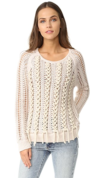M.PATMOS Lea Laced Pullover - Ivory