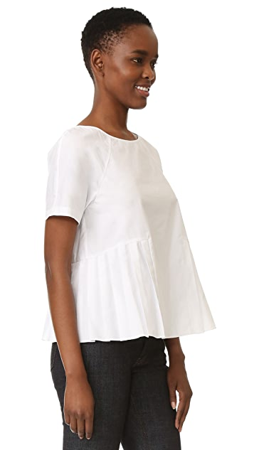 M.PATMOS Clement Pleated Top