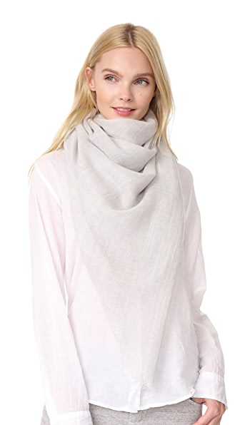 M.PATMOS Delphine Cashmere Stripe Scarf - Heather Grey