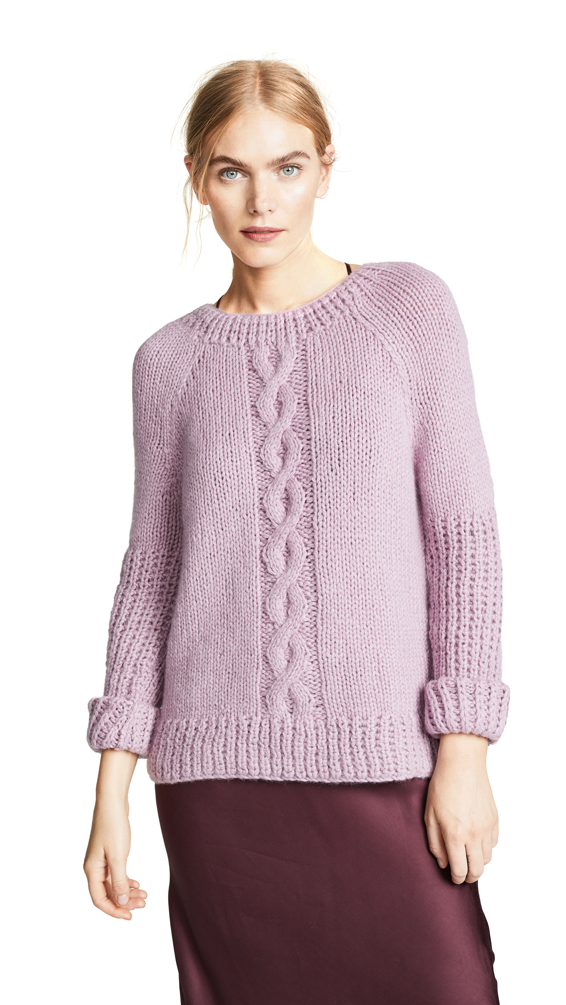 M.PATMOS Seberg Cashmere Crew Sweater in Pink