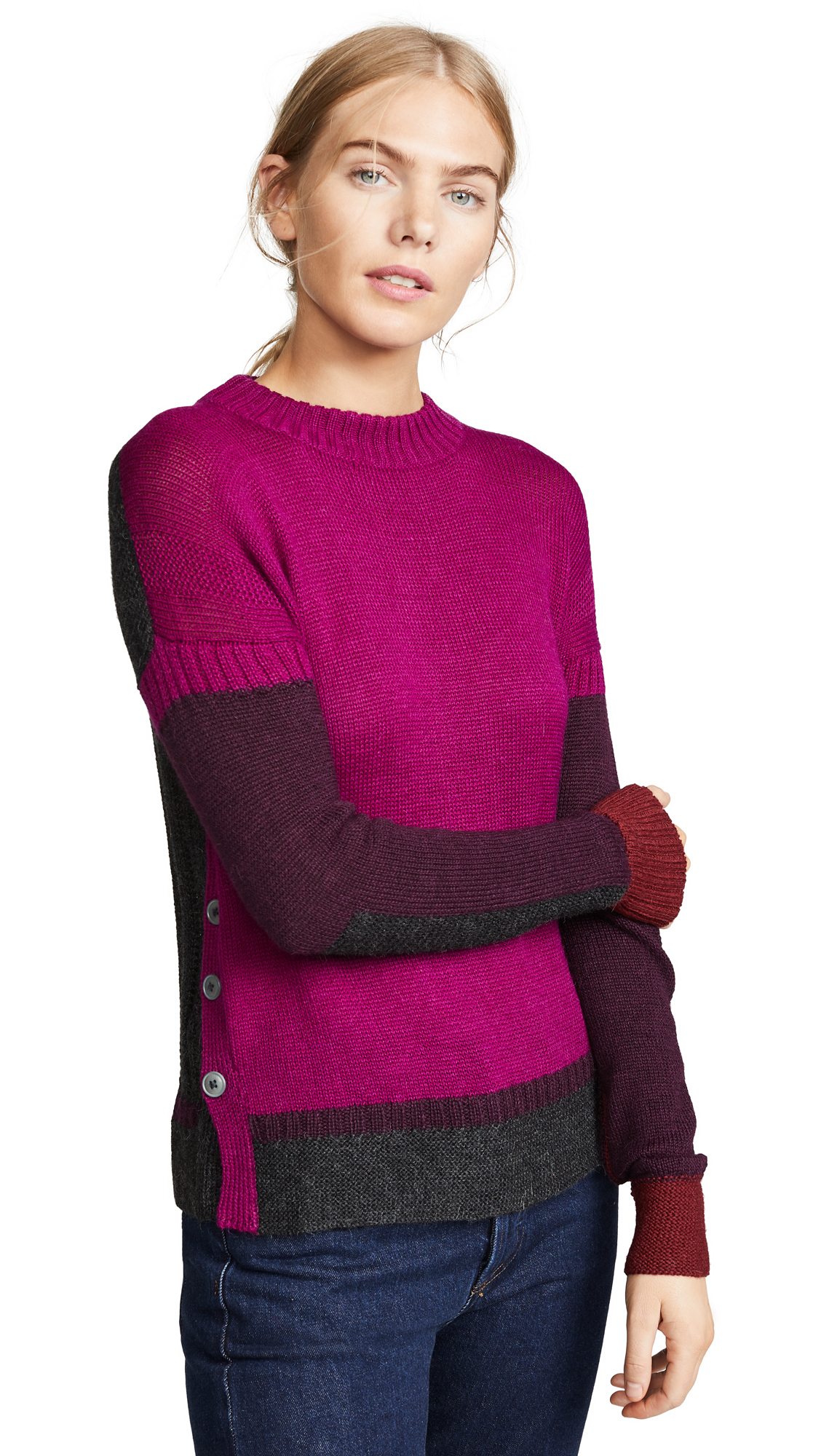 M.PATMOS Francois Sweater in Berry Combo