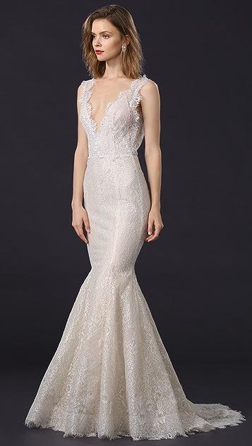 Marchesa Lavender Gown