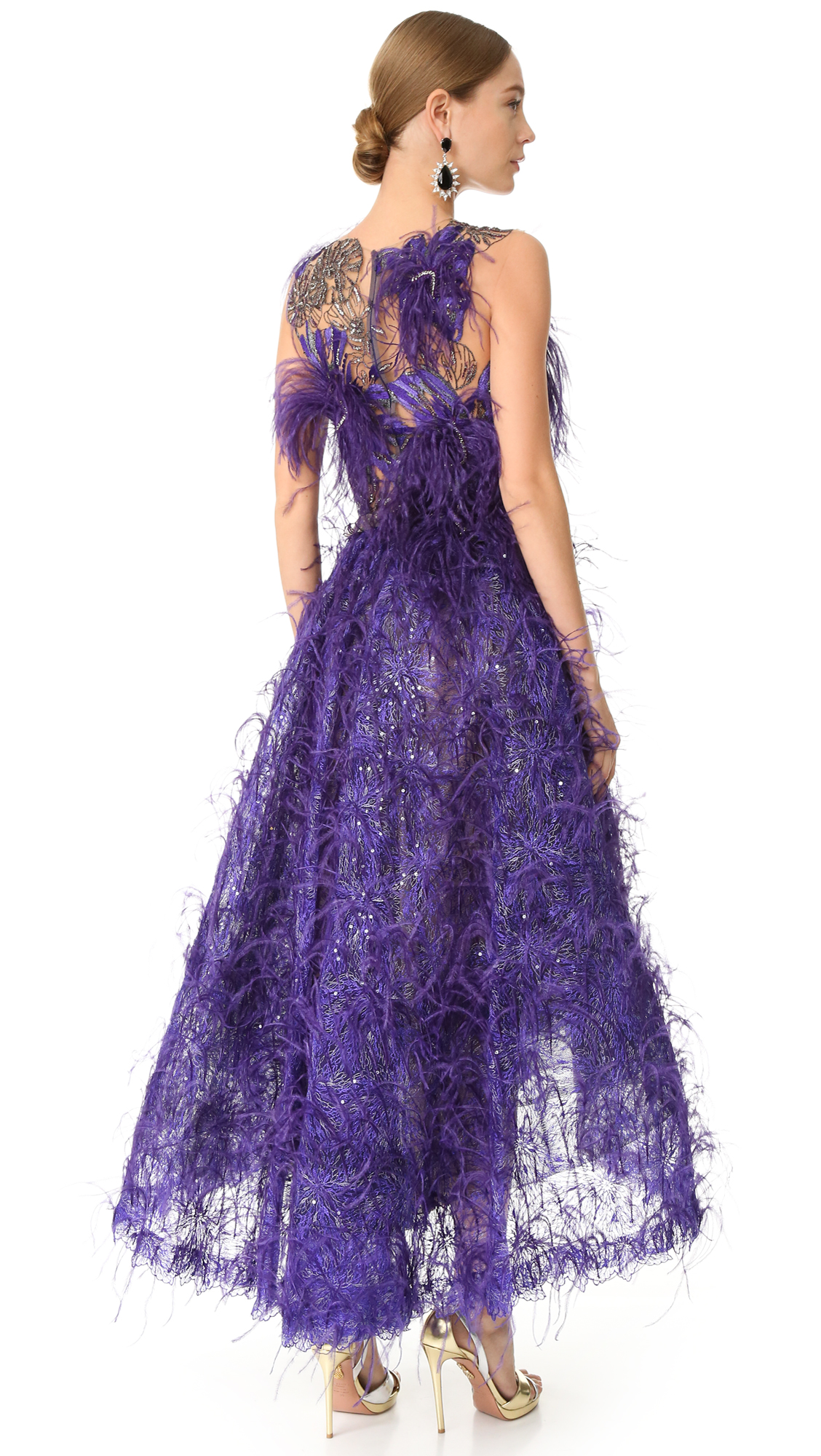 Marchesa Feather Gown | SHOPBOP