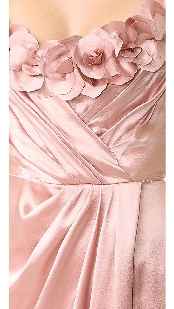 Marchesa Satin Gown