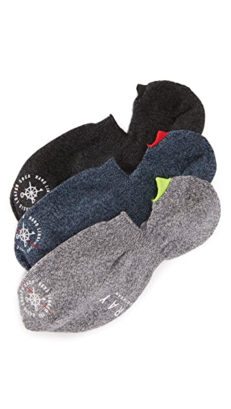 Mr. Gray 3 Pack Melange Loafer Socks
