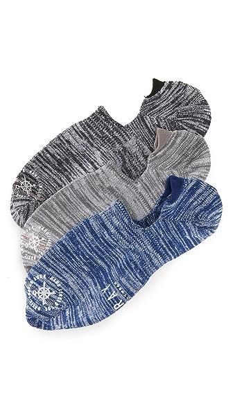 Mr. Gray 3 Pack Hiki Soroi Melange Loafer Socks