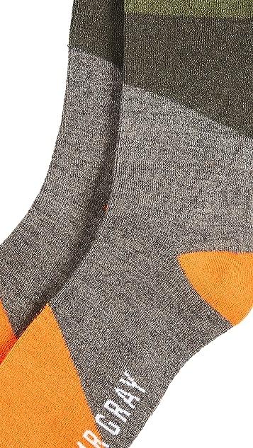 Mr. Gray Pop Block Socks