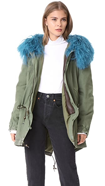 Mr & Mrs Italy Saline Midi Parka - Slate Green