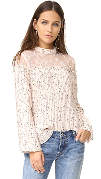 Moon River Pleated Blouse
