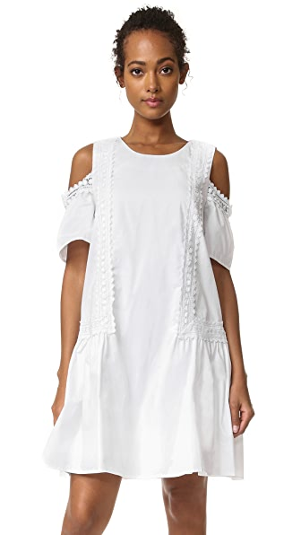 Moon River Cold Shoulder Dress - Off White