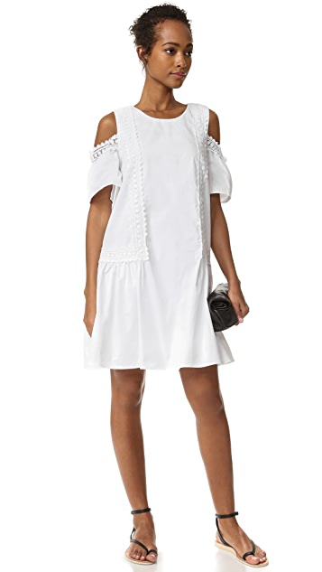 Moon River Cold Shoulder Dress