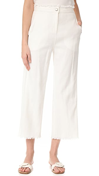Moon River Frayed Bottom Pants