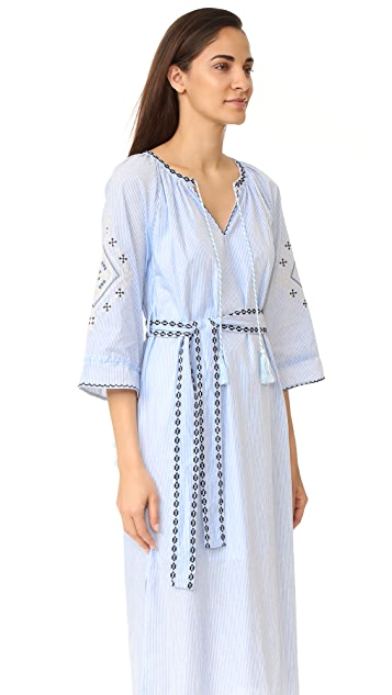 Moon River Embroidered Dress