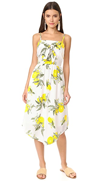 Moon River Front Detailed Camisole Dress In Yellow Multi