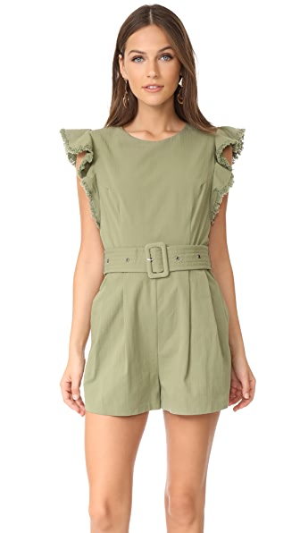 Moon River Romper with Ruffle Detail