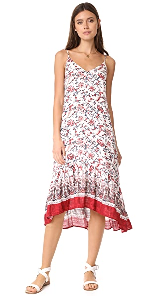 Moon River Camisole Dress In Red Multi