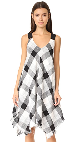 Moon River Asymmetrical Drape Strap Dress