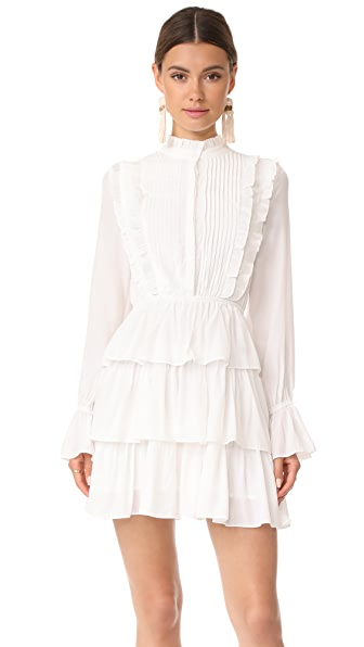 Moon River Ruffle Long Sleeve Dress