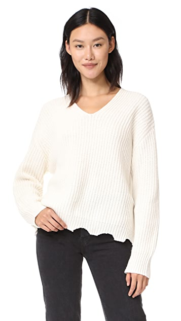 Moon River Raw Edge Sweater