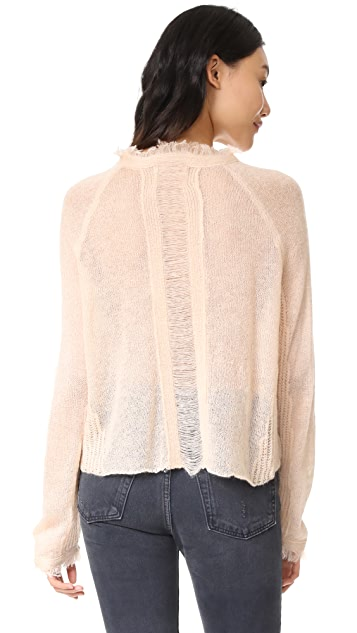 Moon River Oversized Fray Sweater