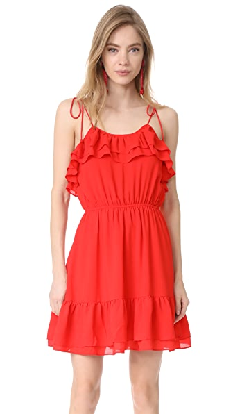 Moon River Sleeveless Ruffle Dress