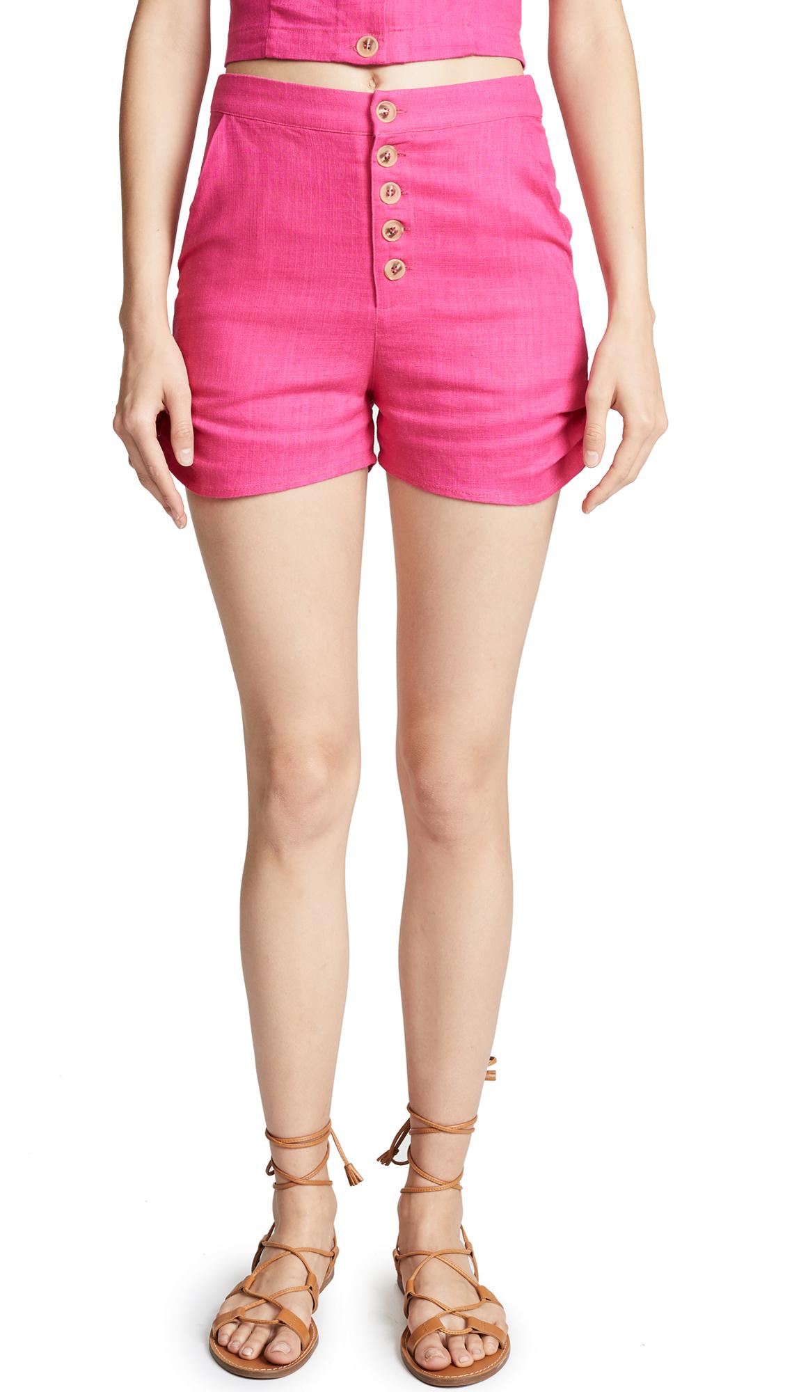 Moon River Button Shorts