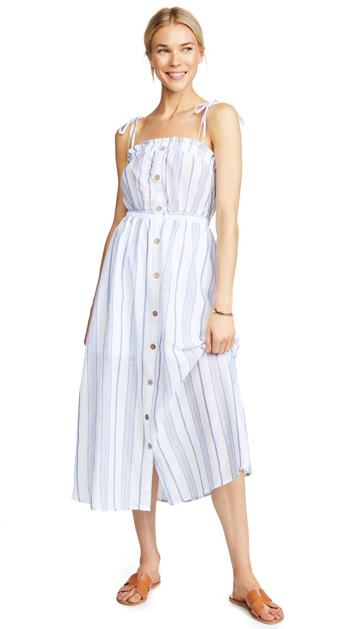 Moon River Sky Stripe Dress