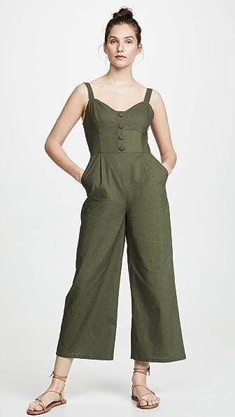 Moon River Suits HUNTER GREEN JUMPSUIT
