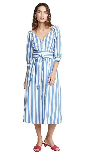 Moon River Blue Stripe Dress