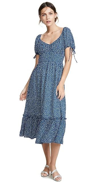 Moon River Blue Dot Dress