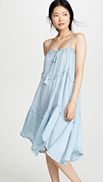 d009acf34b Moon River. Sky Blue Stripe Dress