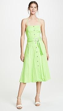673377bf2a1c Moon River. Lime Pinstripe Dress