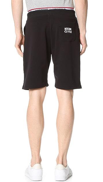 Moschino Cotton Fleece Jogging Shorts