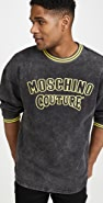 Moschino Vintage Wash Crew Neck Sweatshirt