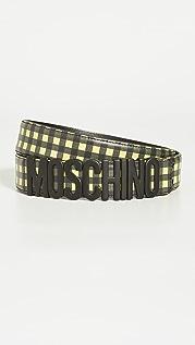 Moschino Moschino Leather Logo Belt