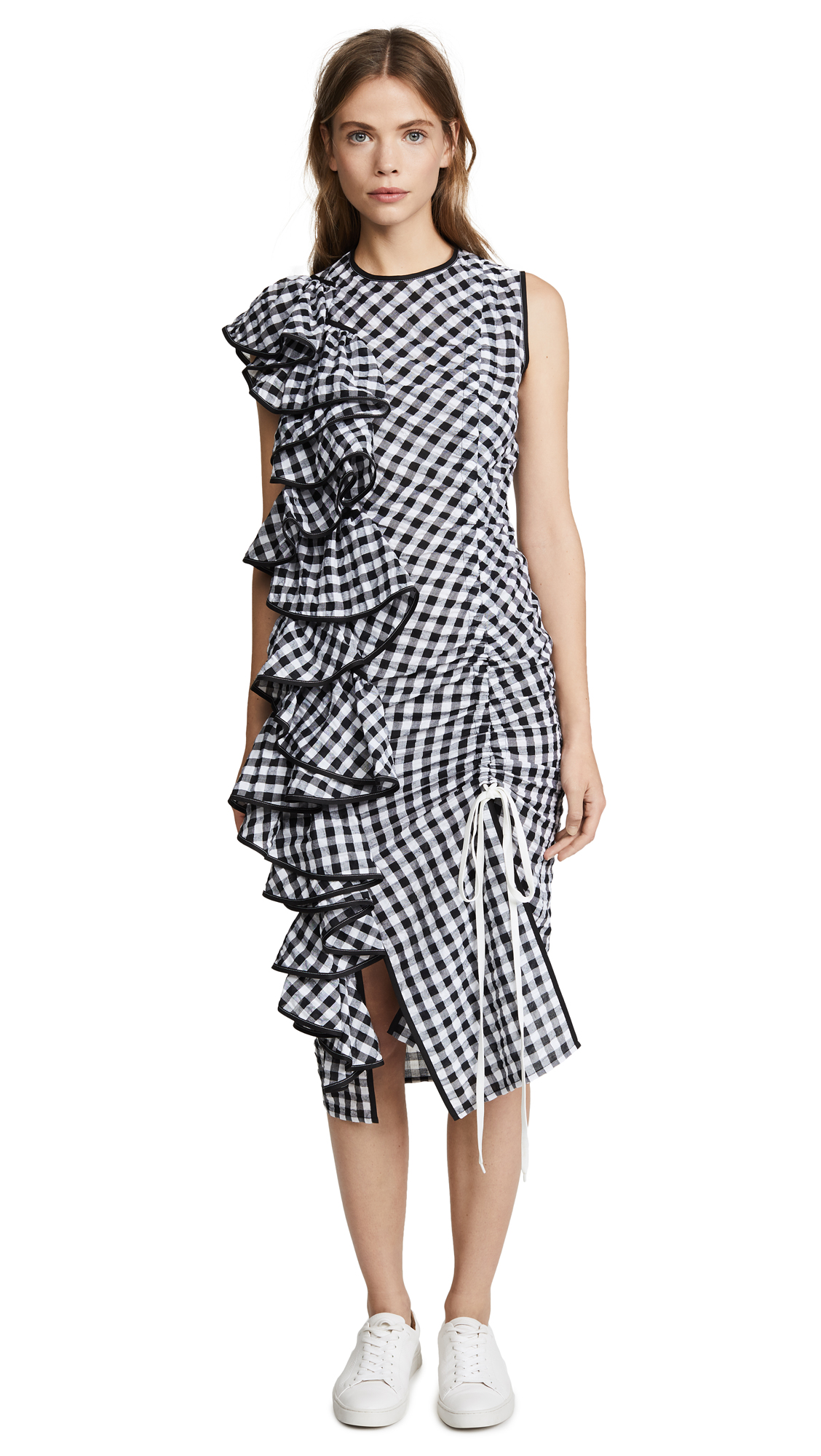 Marianna Senchina Asymmetrical Ruffled Dress